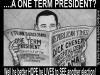 one-term-president