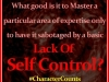 Lack Of Self Control