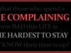 Lifetime Complaining