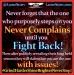 Never Complains