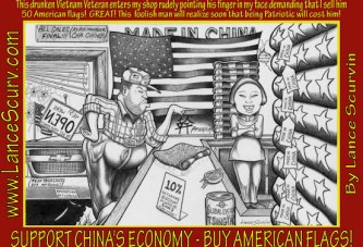 Support China's Economy, Buy American Flags!
