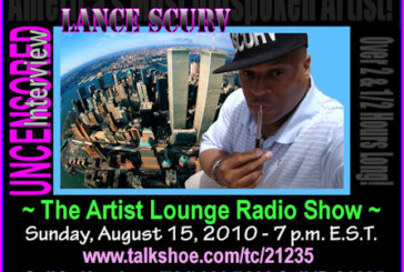 Lance Scurv Is The Featured Guest On The Artist Lounge Radio Show With Host Jill Delbridge 8-15-2010!