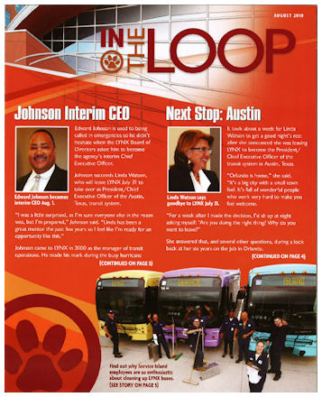 Lance Scurvin Featured In The Lynx Transportation August 2010 Company Newsletter!