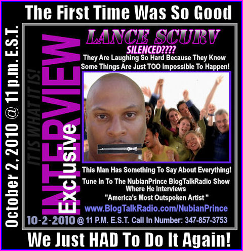 The Lance Scurv Interview 7/31/10 On The Nubian Prince Show