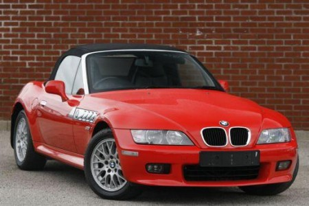 Bright Red Convertible BMW