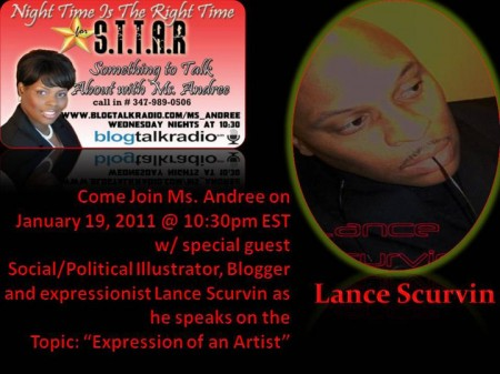 Listen/Call In With Lance Scurvin On The