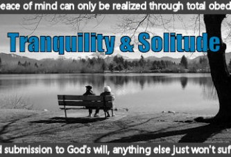 Tranquility And Solitude Come Effortlessly Once Your True Purpose In Life Is Discovered