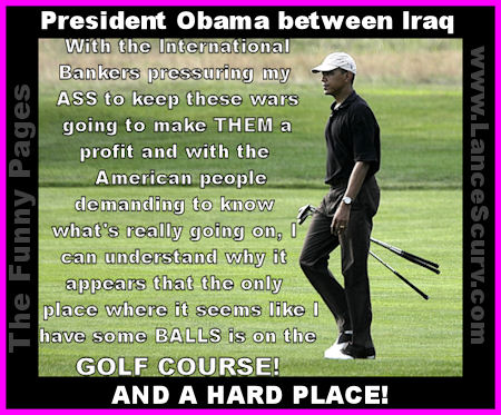 The Funny Pages - President Obama, Between Iraq and A Hard Place!