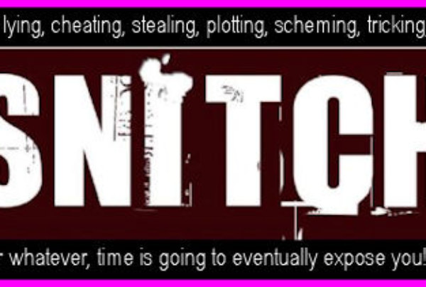 The Gantt Report – A Snitch Called Time