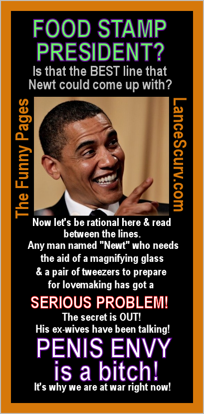 The Funny Pages - Barack Obama: The Food Stamp President?