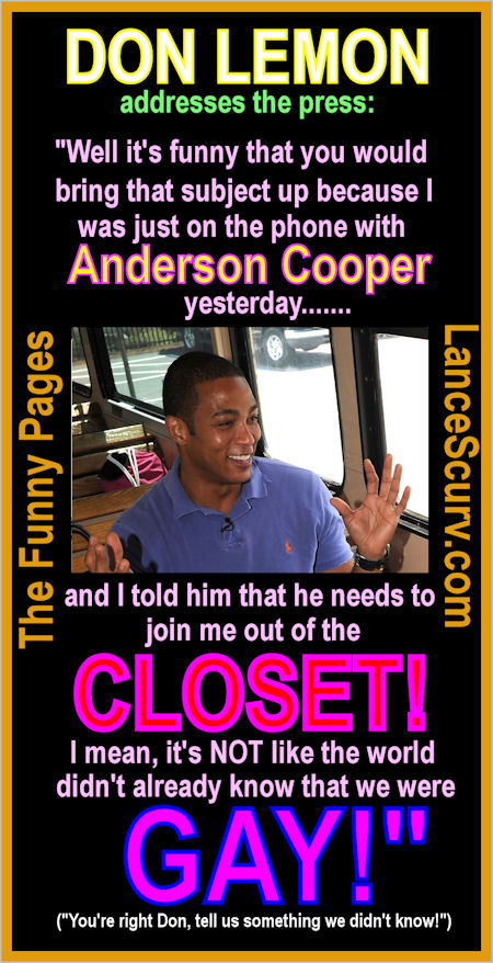 The Funny Pages - Don Lemon's Gay Confession!