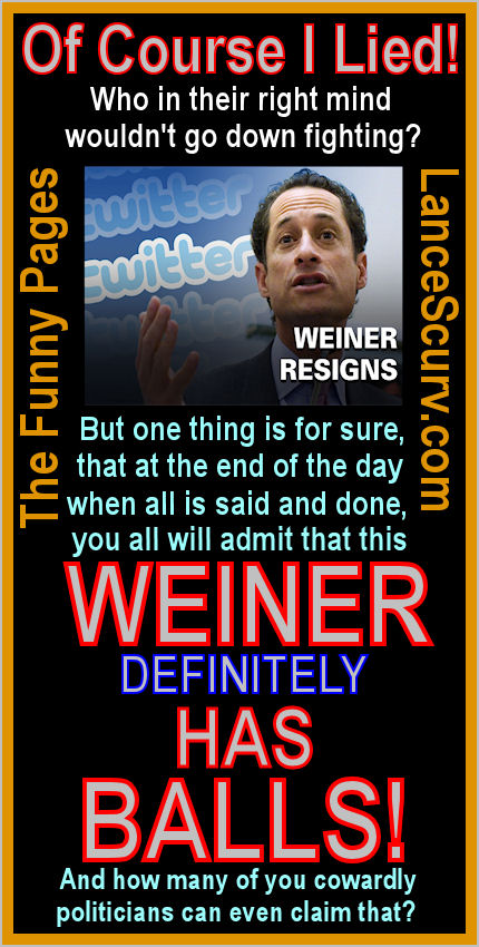 The Funny Pages - Anthony Weiner Resigns