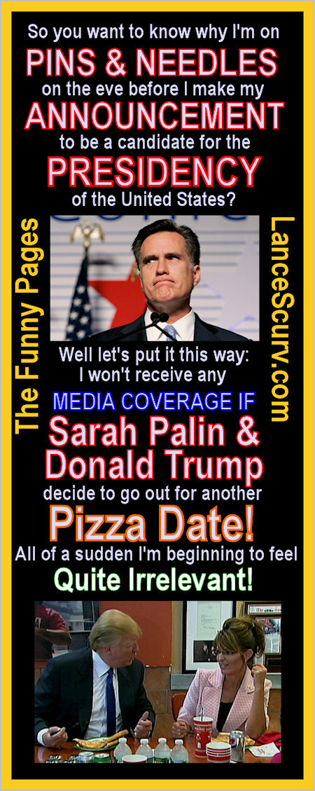 The Funny Pages - Why Mitt Romney Hates Pizza!