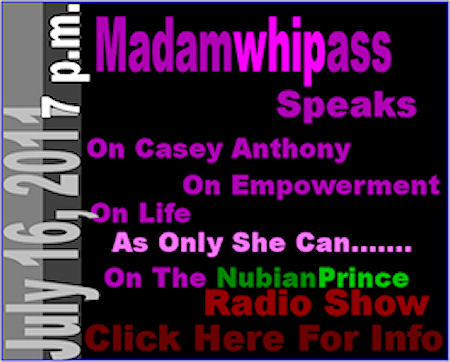 Madamwhipass Speaks On The NubianPrince Radio Show!