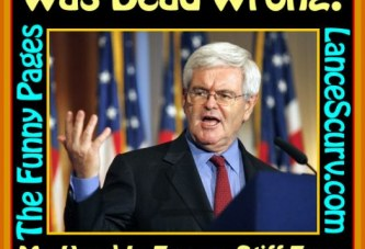 The Funny Pages – Gingrich Chokes His Newt!