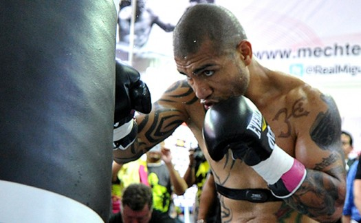 LanceScurv TV - Miguel Cotto Works The Heavybag Preparing For Floyd Mayweather!