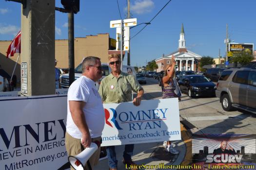 Romney Supporters In Orlando 2012