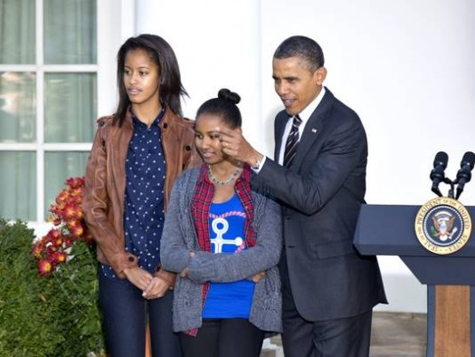President Obama and his Daughters