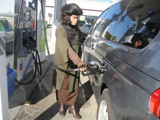 Monkey At The Gas Pump