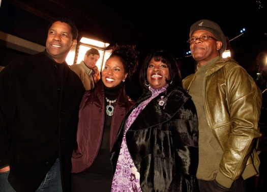 Denzel Washington & Samuel L. Jackson with their Wives