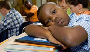 Bored Black Student