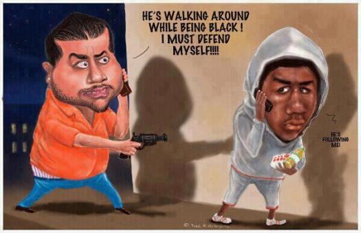 George Zimmerman Trayvon Martin Cartoon