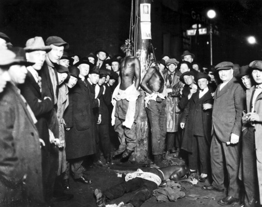 White Lynching Party