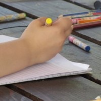 Child Sketching and Coloring preview image
