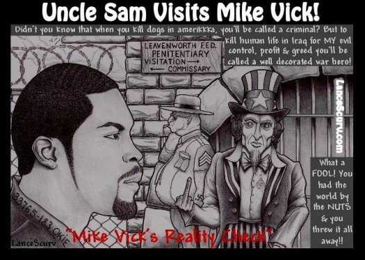 Uncle Sam Visits Mike Vick