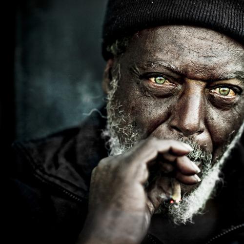 Black Man Smoking A Joint