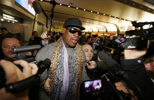 Dennis Rodman & The Press