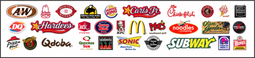 Healthy Eating - Fast Food Logos