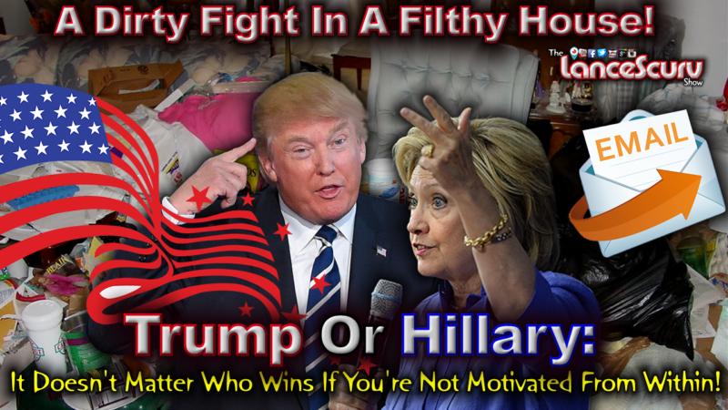 Hillary Trump Dirty Living Room