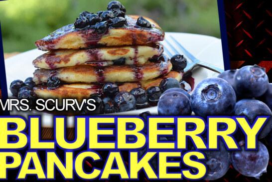 Blueberry Vegan Pancakes!