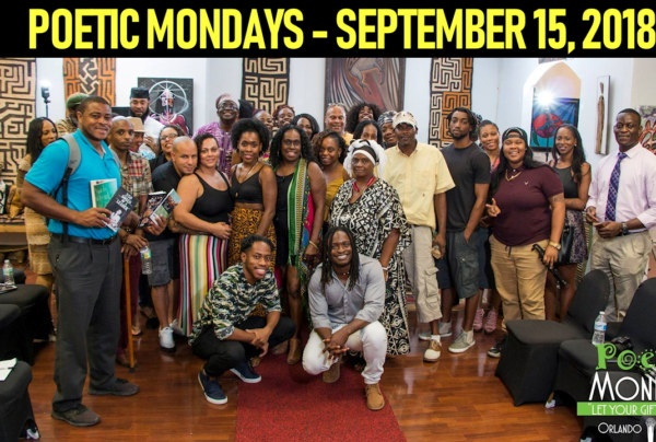 POETIC MONDAYS AT THREE MASKS INC. - SEPTEMBER 17, 2018