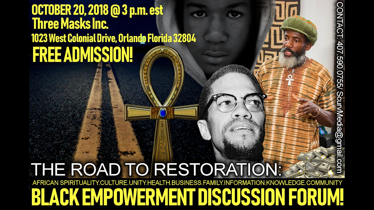 THE ROAD TO RESTORATION: BROTHER KESTON Speaks At The Three Masks Inc. Cultural Center