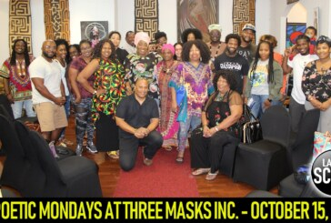 POETIC MONDAYS AT THREE MASKS INC. – OCTOBER 15, 2018