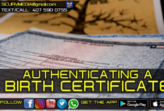 AUTHENTICATING A BIRTH CERTIFICATE!