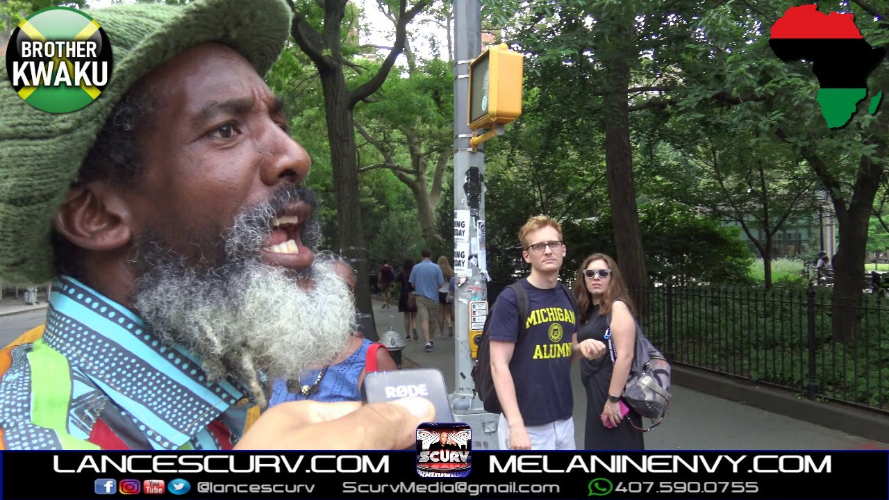 BROTHER KWAKU PUTS A DONALD TRUMP SUPPORTER IN HIS PLACE AT GREENWICH VILLAGE! - The LanceScurv Show