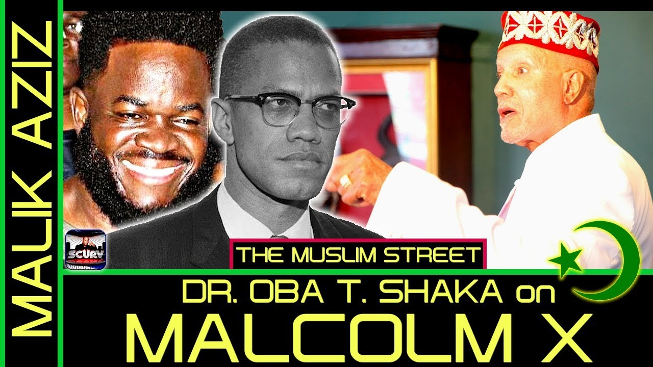DR. OBA T. SHAKA SPEAKS ON THE LIFE OF MALCOLM X TO MALIK AZIZ ON THE MUSLIM STREET! - LanceScurv