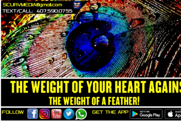 THE WEIGHT OF YOUR HEART AGAINST THE WEIGHT OF A FEATHER!