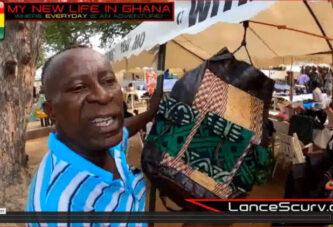 BEAUTIFUL HANDMADE BAGS AT THE W.E.B. DUBOIS CENTER IN ACCRA GHANA