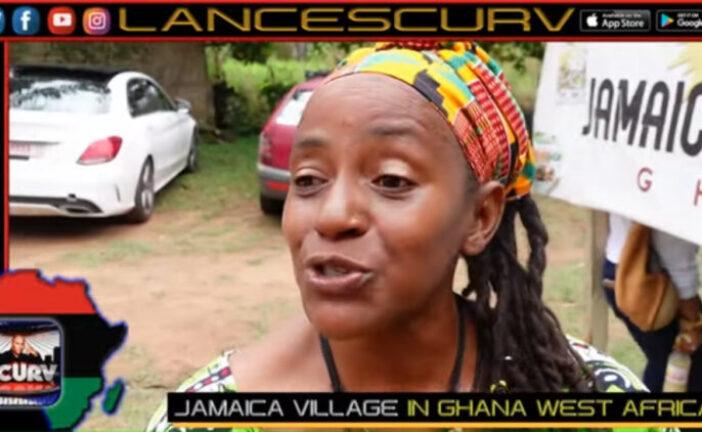 JAMAICA VILLAGE IN GHANA WEST AFRICA: