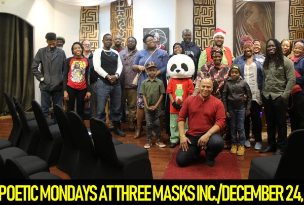 POETIC MONDAYS AT THREE MASKS INC./DECEMBER 24, 2018